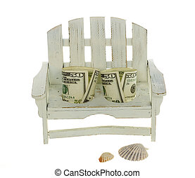Two Fifty Dollar Bills Seated in a Chair