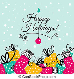 Christmas greeting card illustration - Christmas greeting...