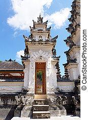 Hindu temple at Pura Sahab, Nusa Penida, Bali, Indonesia -...