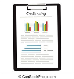 Credit rating document - Vector illustration credit score,...