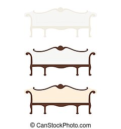 Retro, vintage furniture - Vector illustration of vintage...