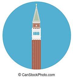 San Marco square - Vector illustration Campanile di San...