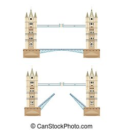 Tower bridge vector - Vector illustration London tower...