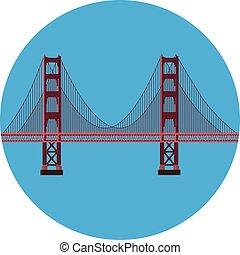 Golden Gate bridge - Vector illustration San Francisco...