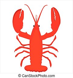 Lobster vector icon - Vector illustration lobster icon....