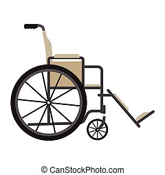 Medical wheelchair vector