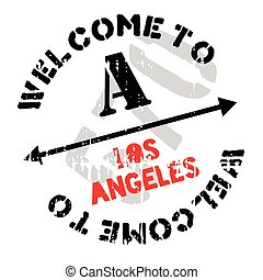 Los Angeles stamp. Grunge design with dust scratches....