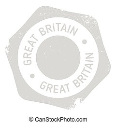 Great Britain stamp. Grunge design with dust scratches....