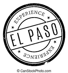 El Paso stamp. Grunge design with dust scratches. Effects...