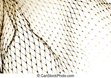 Net - Close-up of netting on white background