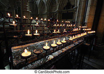 York Minster Candels - Interior of the historical York...