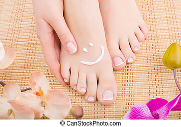 Pedicure - Beautiful manicured feet with pedicures and...