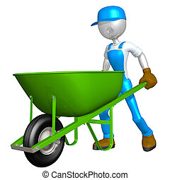 Worker With Wheelbarrow - A Concept And Presentation...
