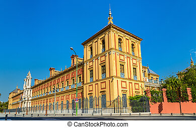 The Palace of San Telmo in Sevilla, Spain - The Palace of...