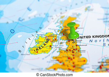 Newcastle Scotland map - Newcastle in Scotland pinned on...
