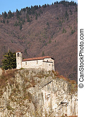 The Rocca in country Nozza with Medieval Church - The Rocca...