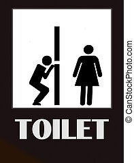 Funny Toilet Sign - funny male and female bathroom sign...