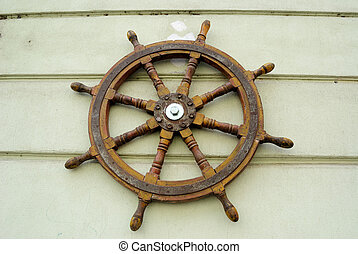 Steering Wheel - Steering wheel of a ship.