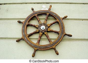 Steering Wheel - Steering wheel of a ship.