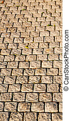 in south africa abstract pavement in the old steet - in...