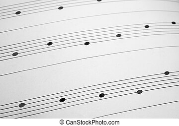 Music sheet background - Musical notes on staves as a...