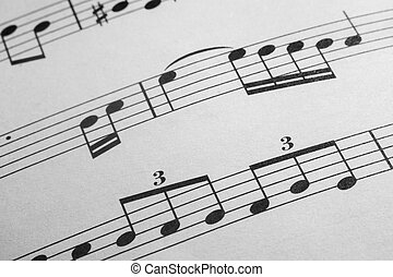 Music sheet background - Musical notes as concept of musical...