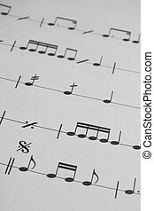 Music sheet background - Musical notes to exercise to music...