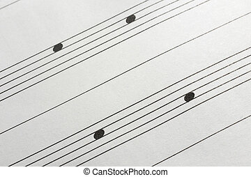 Music sheet background - Musical notes in the spaces as a...