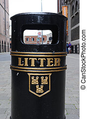 Litter - A litter bin in Dublin, Ireland
