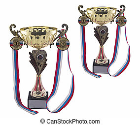 Sports medals and trophy