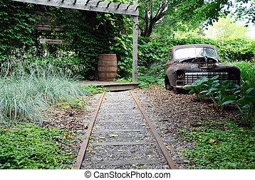 Rural country garden
