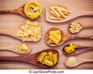 Italian foods concept and menu design . Various kind of...