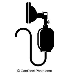 Anesthesia Icon Silhouette Isolated on White. Bag Valve Mask...
