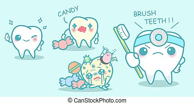 Cartoon dental health concept,great for your health