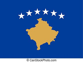 Official vector flag of Republic of Kosovo .