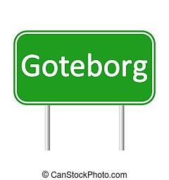 Goteborg road sign. - Goteborg road sign isolated on white...