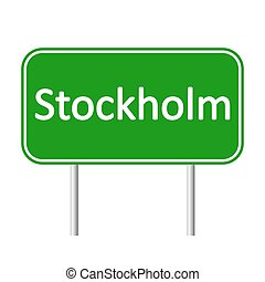Stockholm road sign. - Stockholm road sign isolated on white...