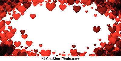 Love valentine's background with hearts.