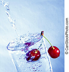 Cherry in water.