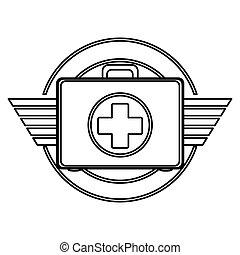Isolated medical kit design - Medical kit icon. Medical...