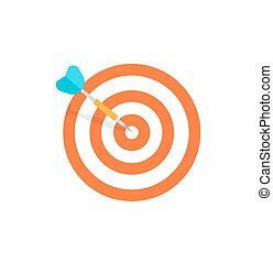 Target isolated icon - flat design vector illustration.