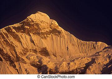 Nanda Devi East, Uttarakhand, India- 14 December, 2006: Snow...