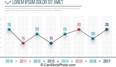 Line Graph - Line graph template, business infographics,...