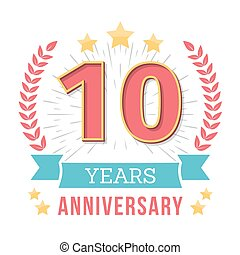 Anniversary Emblem - 10 Years anniversary emblem with...