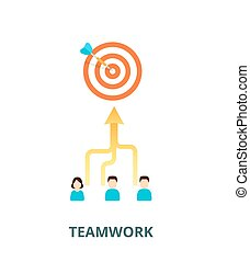 Achievement of results concept. Team is committed to a...