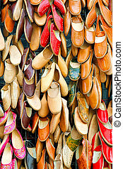 Leather shoes - Egyptian leather shoes sold on street market...