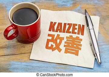 Kaizen - continuous improvement concept - Kaizen - Japanese...