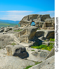 Ancient rock town, Georgia - Uplistsikhe caves is an ancient...