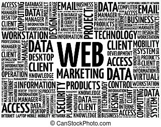 Web Marketing word cloud concept