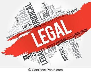 Legal word cloud concept
